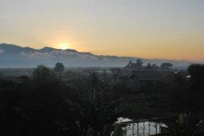 Inle sunset