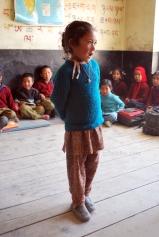 School girl in Kaza, Northern India