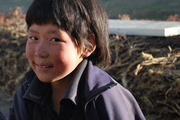 Tashi in Demul, Northern India