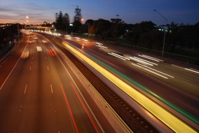 Dusk - Kwinana Freeway