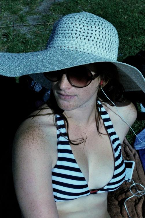 Jess at the beach