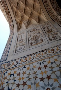 Delicate details at the Baby Taj, Agra