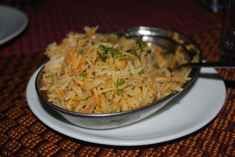 Biryani at Hotel Royale Regency, Agra