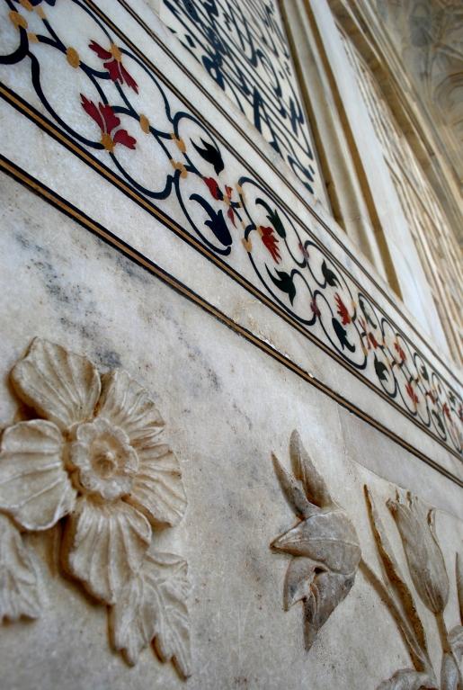 Marble details of the Taj Mahal