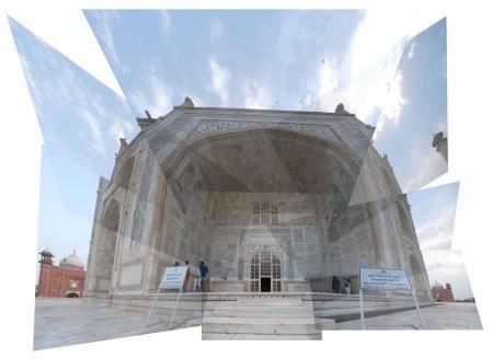Doorway to the mausoleum, Taj Mahal