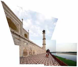 A local family admiring the Taj Mahal