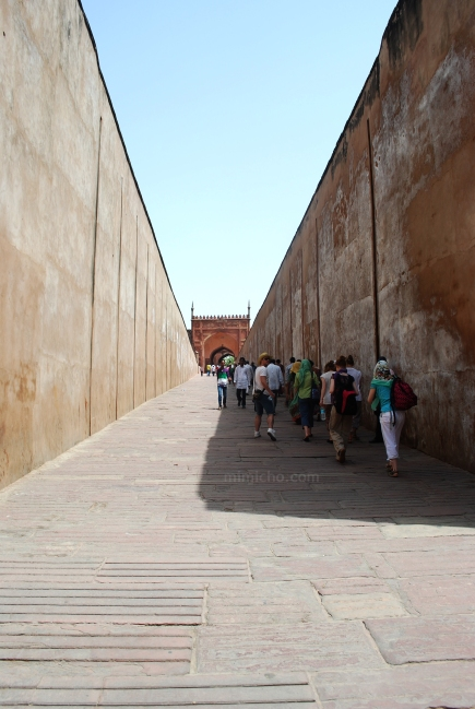 Entering Agra Fort