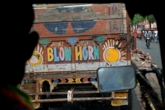 Indian motorists are very vocal!