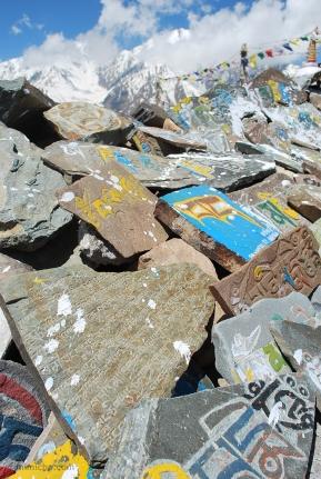 Prayer stones - Spiti valley, Northern India
