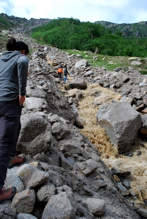 Landslide - Spiti valley, Northern India