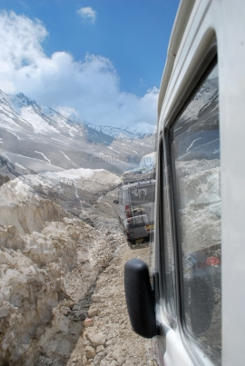Driving On Ice in the Spiti valley, Northern India
