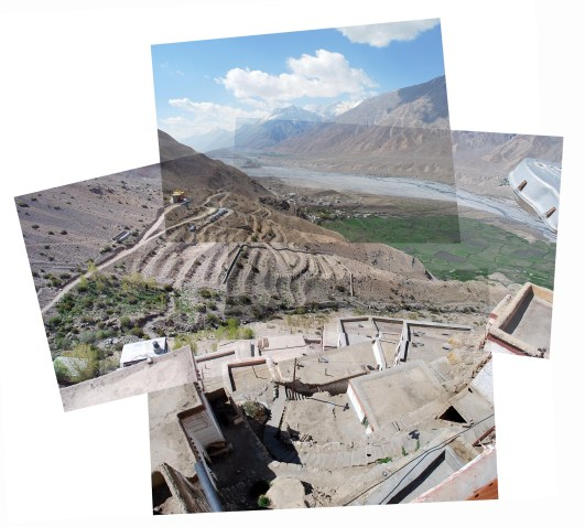 View from Kee monastery - Spiti, Northern India