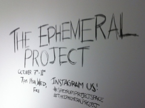 The Ephemeral Project