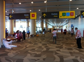 Zombies invade Bali airport